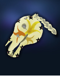 Mayan Style Horse Skull Painting