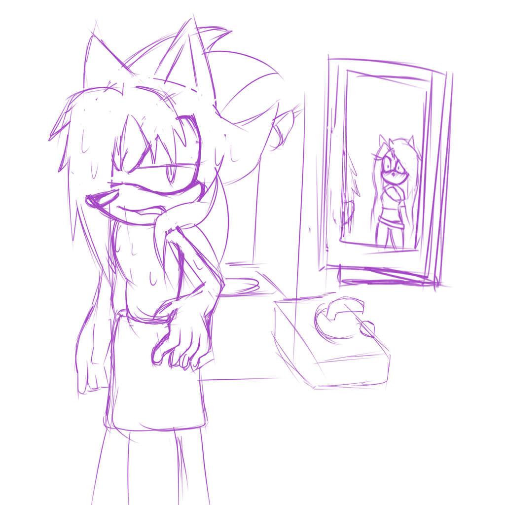 *sketch* awkward bathroom moment?