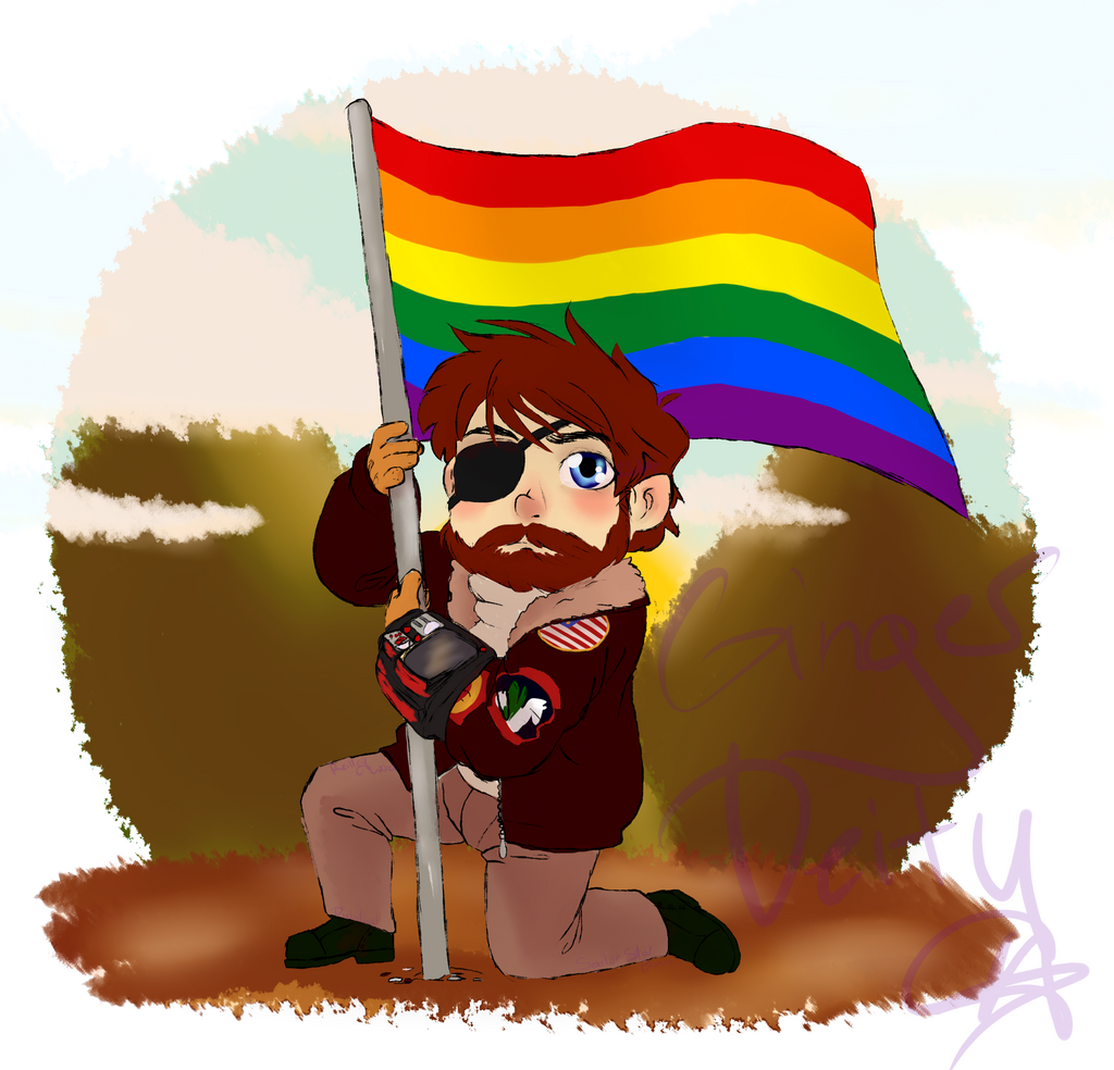 Commission: Fallout OC with Pride Flag