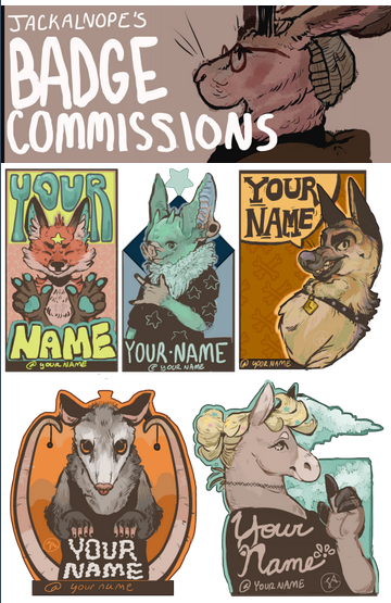 BADGE COMMISSIONS are open!