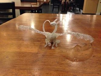 Jsfarsth_Sala Hot Glue Dragon Sculpt WIP