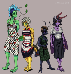 Bug Girls in Dresses
