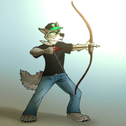 Coyote Archer [Stream Commission]