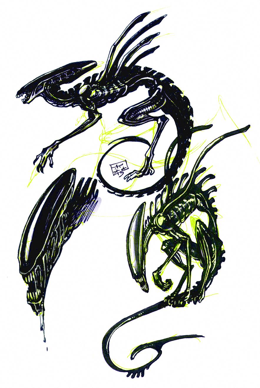 Sketches: Xenomorph doodles