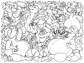 patchopossum sketchpage commission (stuffing)