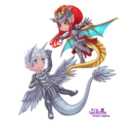 Commission: Sibling Chibis