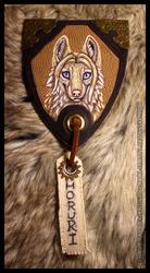 Horuri Leather Badge Commission