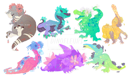 Dinofleurs (Common 5) - Adoptables (All gone!)