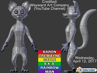 Blender 3D Modeling Character Project