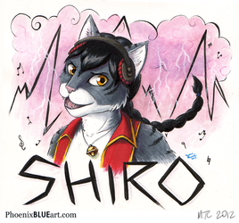 Shiro Mixed Media Music Badge