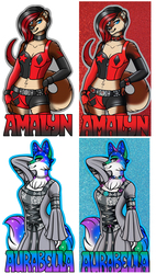 Glitter Badges - Amalyn & Aurabella