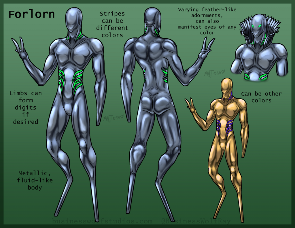 Most recent image: Forelorn Species Ref/Guide - Art by Raynier