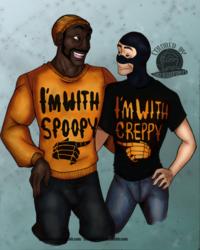 Halloween Demoman and Spy