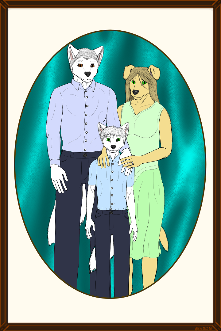 Commission ~ Ragewolver - Argent Family Portrait