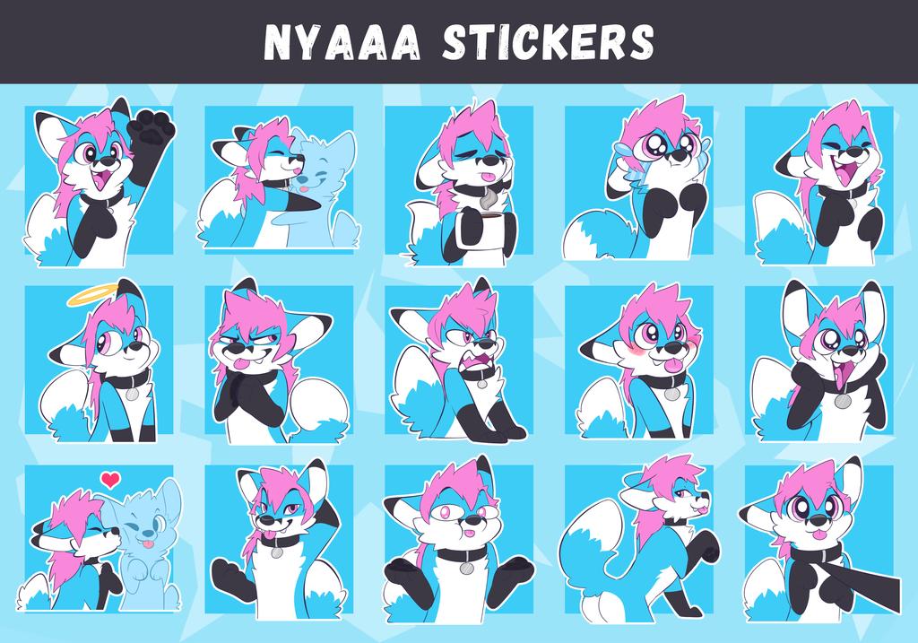 NyaaaFoxX Telegram Sticker Pack (by Pulex)