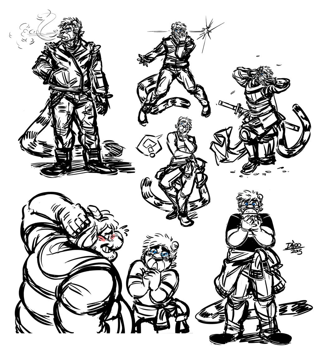 Doodle Dump 15 - The Many Poses of Iaido