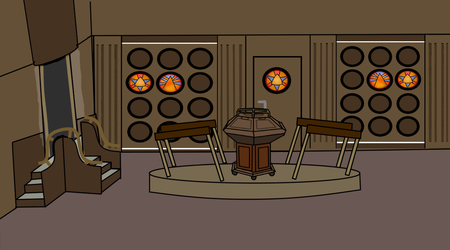 flash cartoon 1976 tardis console room