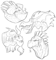 Dragon Faces
