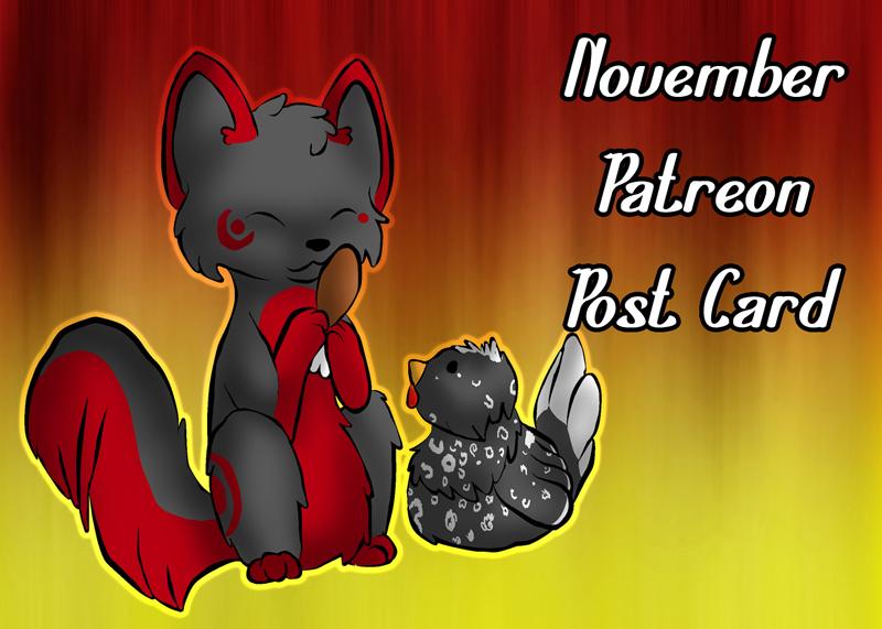 November Patreon Post Card