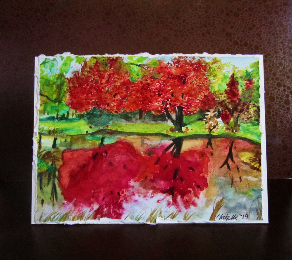 Fall Maples Greeting Card