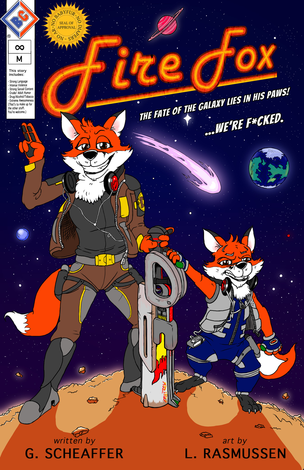 """Fire Fox"" Official Comprehensive Comic Cover"