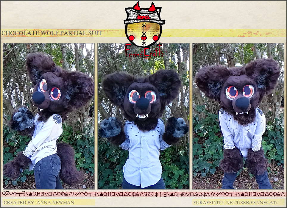 FennéCrafts - Chocolate Wolf Partial Suit (2017) Sold!