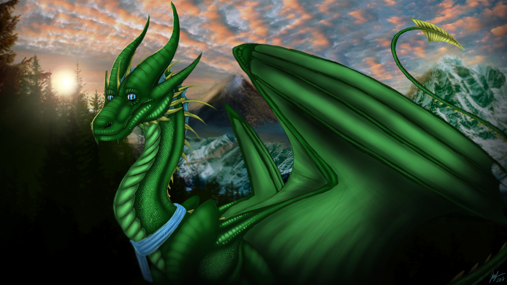 Most recent image: A Green Dragon? :3