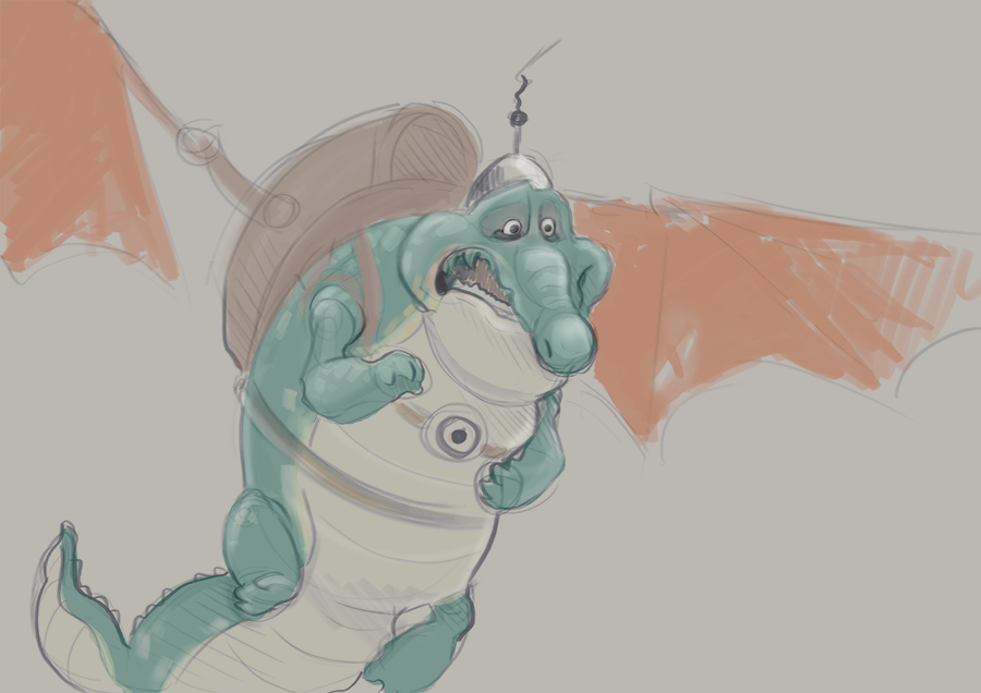 warm-up sketch: Gustav