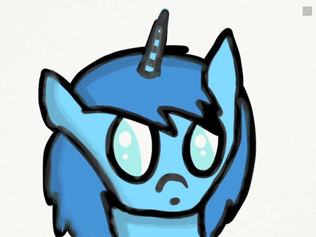 Unicorn blu...with  shading!