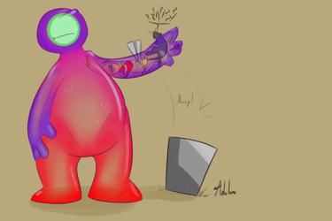 Gift art - Spiderdasquirrel - Globbin trash