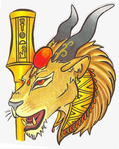 Sekhmet Badge.