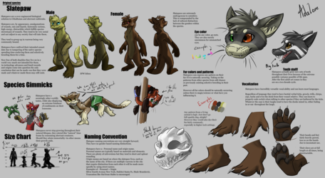 Slatepaw - Species reference