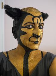 3-Eyed Cat makeup