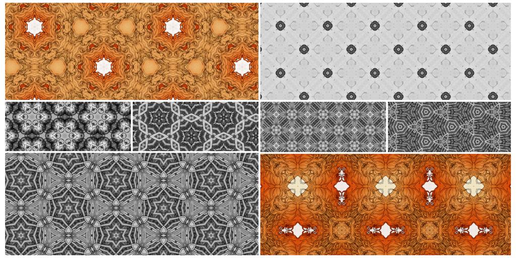 Kaleidoscope tiling patterns