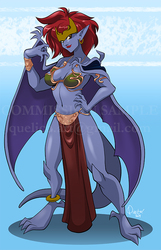 Demona in Slave Leia outfit
