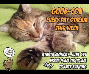 Goobcon Stream starts monday