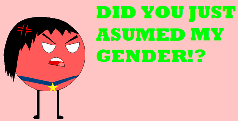 DID YOU JUST ASUMED MY GENDER?!