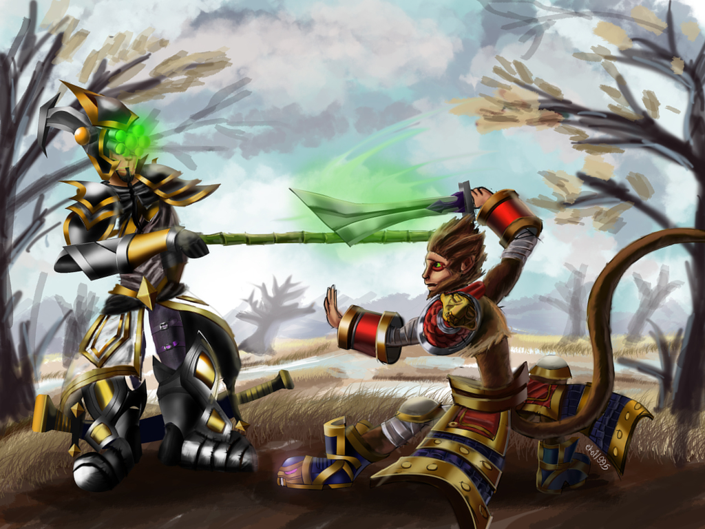 LoL Digi-Art Throwdown: Master Yi and Wukong — Weasyl