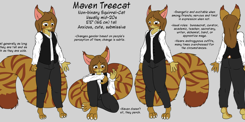 Maven Treecat - Reference Sheet