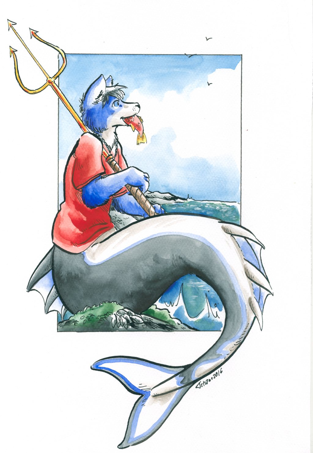Guarding the sea ( my First Commission! )