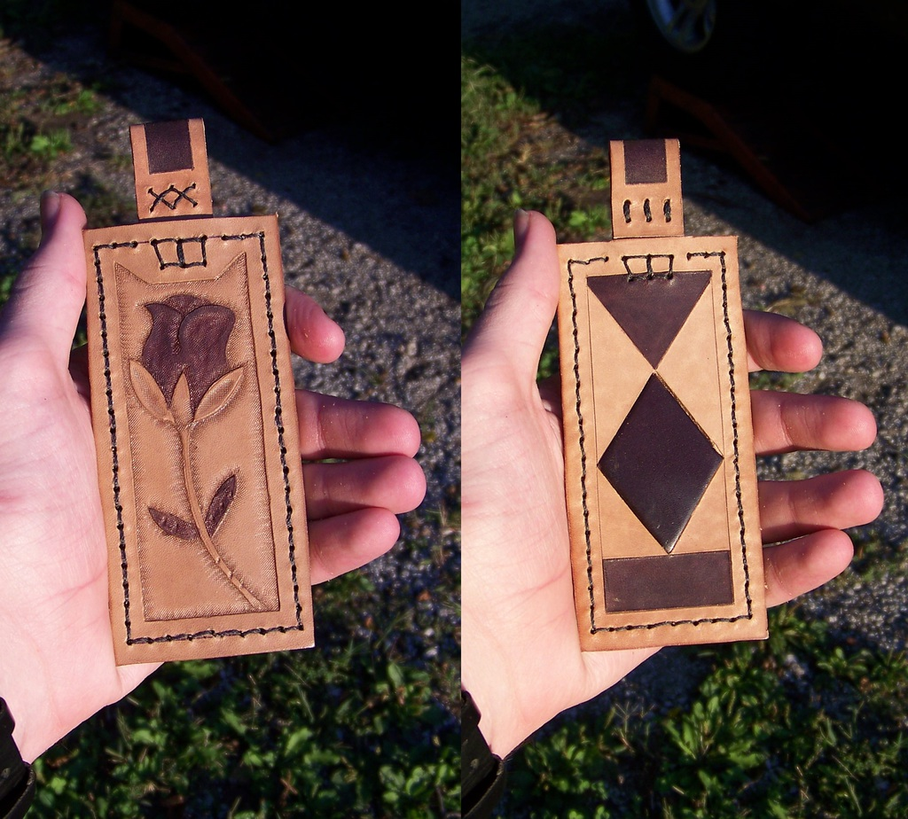 """Leather Projects - Giant Pendant - """"Finished"""" 2"""