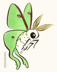 Fuzzy Cute Luna Moth [Design]