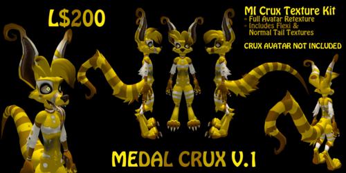 Crux: Medal V.1 (SecondLife Skin Mod)