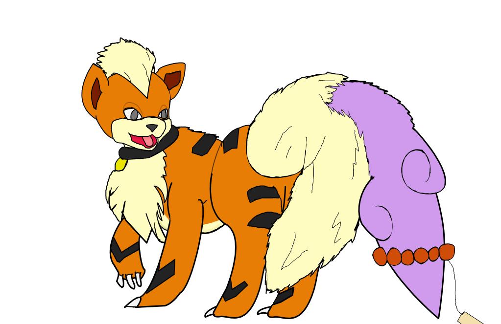 Growluff's Tail-Fluff Got Stuffed! - by redmetalfox