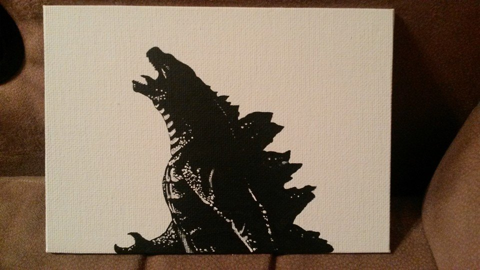 Most recent image: Godzilla b/w