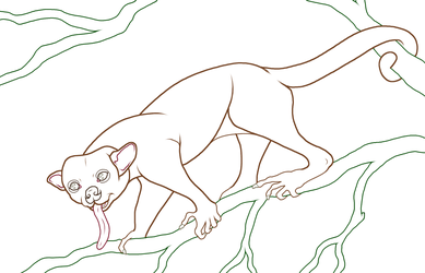 Kinkajou - Artists for the Amazon -Alt-