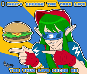 [Old Art] Thug Life, Electric Boogaloo: Cheeseburger Magic