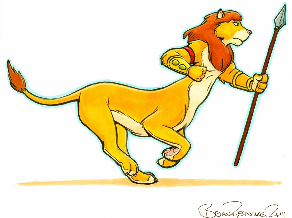 The Dashing Liontaur (colored toon art)