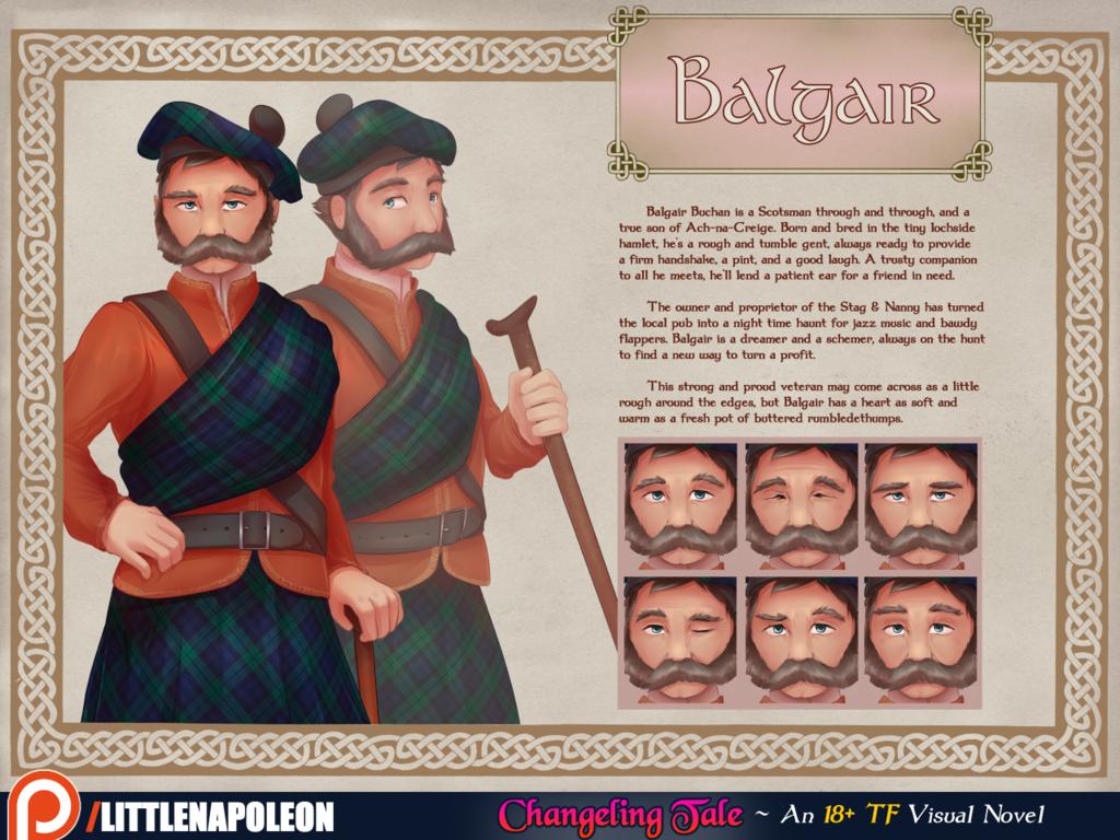 Changeling Tale - Balgair Character Sheet