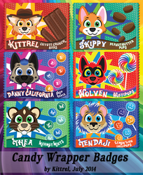 Candy Wrapper Badges